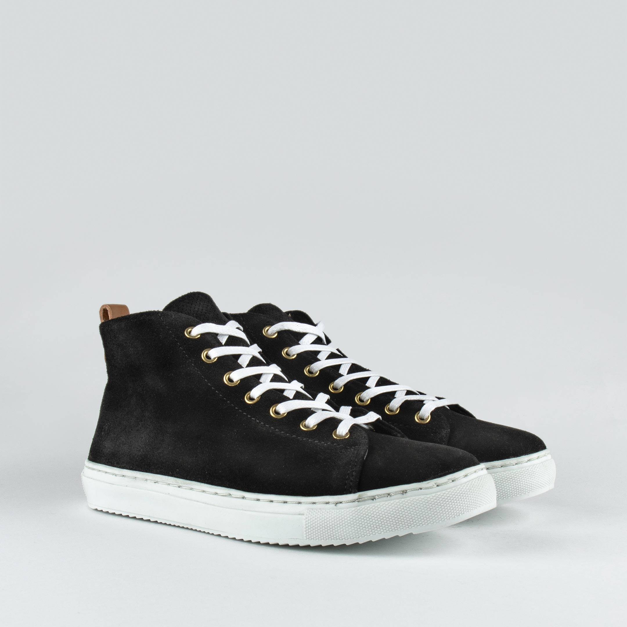 Stoked High W Black Suede
